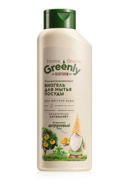Biogel na mytí nádobí koncentrovaný Citrusový mix Home Gnome Greenly